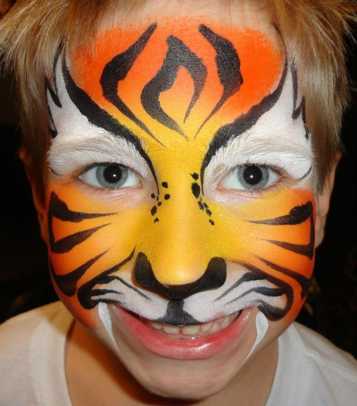 Easy tiger face paint - photo#16