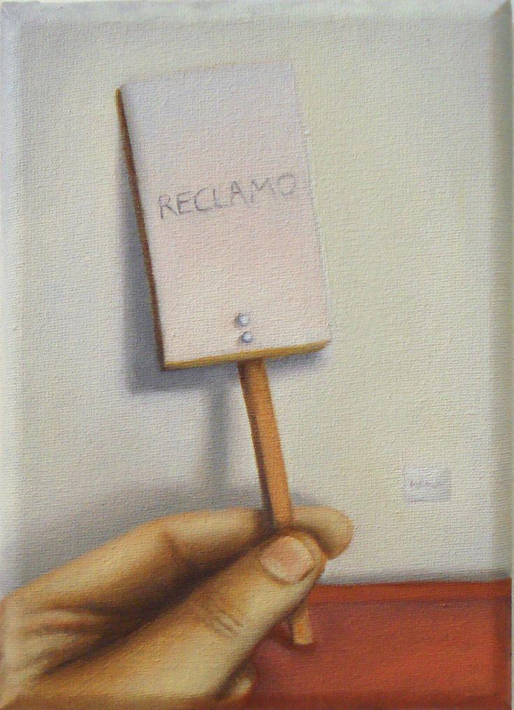 Reclamo (2014) - Óleo sobre tela (13x18)