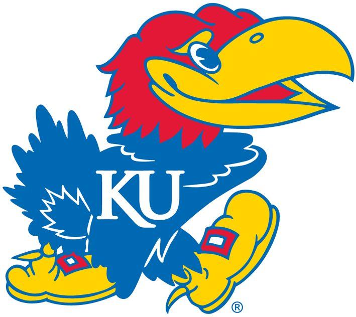 Kansas Jayhawks Primary Logo (2006) - The font of the white KU on the Jayhawk's chest changes.
