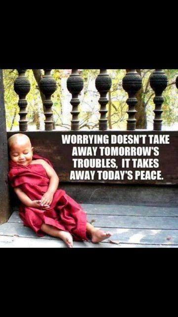 worrying versus peace quote