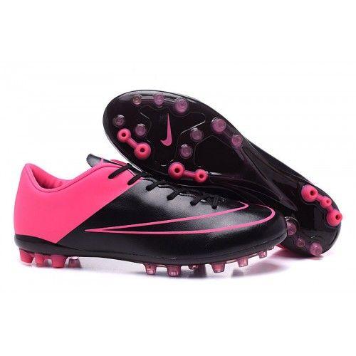 Nike Mercurial CR7 AG Baratas Botas De Futbol Low Negro Rosado