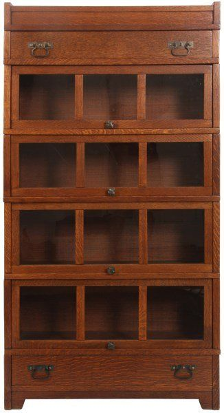 mission style bookcase plans glass doors oak stacking sectional lot with drawers