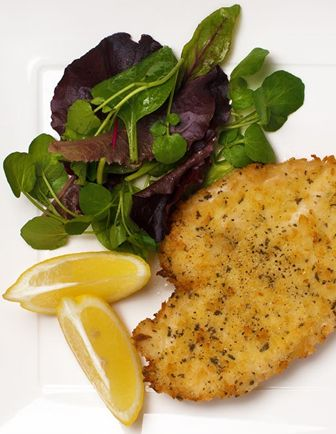 21. Chicken escalopes with sage crumb
