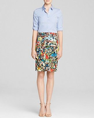 Shirt Dress - Loving every part of this outfit. / Alice and Olivia #100PercentBloomies