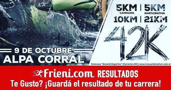 Trail Run Alpa Corral Circuito OSDE 42k21k10k5k Busca los resultados de tu carrera y dejanos tu opinión! - Frieni.com #running #trailrunning #maraton #correr