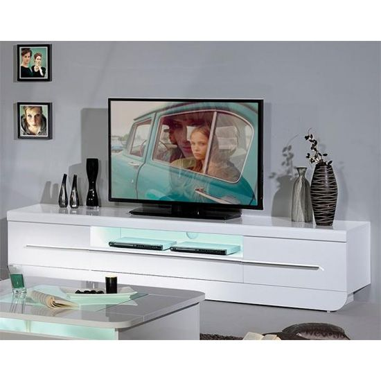 Fiesta Lcd Tv Stand In High Gloss White With Led Light Products I