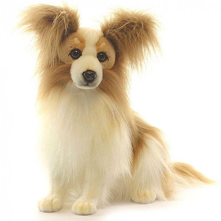 Plush Toy Papillon Dog Realistic