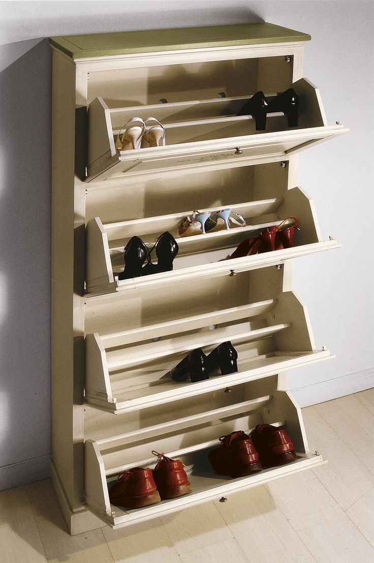 Dulap pentru pantofi din lemn masiv - Shoe Cabinet Hand Painted  - Catalog Zanini