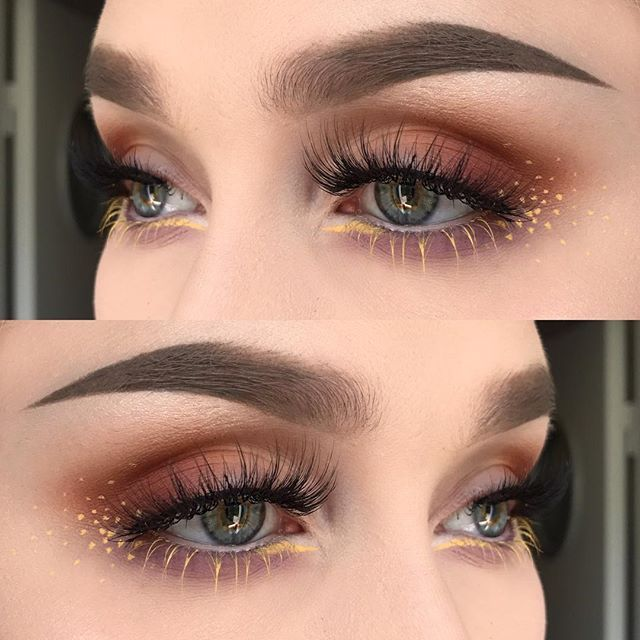 I used @nyxcosmeticsnordics eyeshadow palette rustic antique , eyeshadow palette lid lingerie 01 , whipped cream eyeshadow and vivid brights liquid eyeliner in vivid halo   @anastasiabeverlyhills dipbrow pomade in taupe and browpowder in taupe + clear brow gel   @felinelashes in burmilla 💕 #wakeupandmakeup #vegas_nay #makeupmafia #fiercesociety #dressyourface #hudabeauty #makeupartistsworldwide #makeupartist