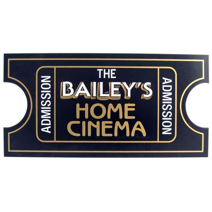 Personalized Movie Theater Signs