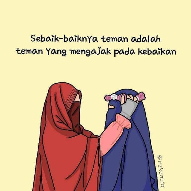 Gambar Kartun Kata Kata Islami   colouring mermaid in 2020   Anime muslimah, Muslim love quotes ...
