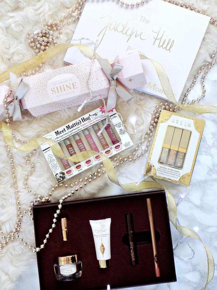 Christmas gifts, makeup gifts sets, Jaclyn Hill x Morphe eyeshadow palette, Stila Written In The Stars Glitter & Glow Liquid Eyeshadow Set, theBalm Meet Matt(e) Hughes™ Mini Long Lasting Liquid Lipstick Kit, Makeup Essentials by FeelUnique, Charlotte Tilbury's Beauty Icons Gift Set