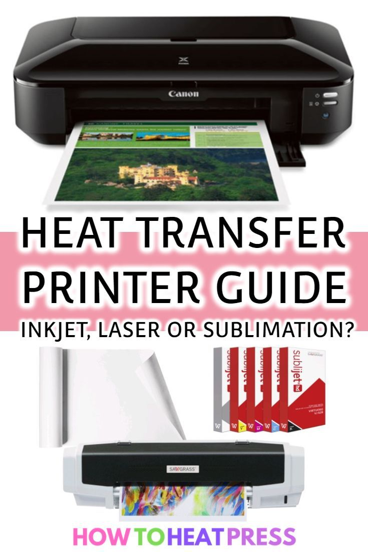 Heat Transfer Printer Guide Inkjet Laser Or Sublimation Printable Heat Transfer Vinyl Heat Transfer Vinyl Projects Cricut Heat Transfer Vinyl