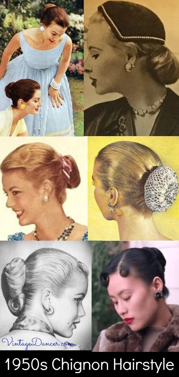1950s Bun Hairstyles Hairstyle Deco 1950s Bun Deco Hairstyle Hairstyles 1950s Hairstyles 50s Hairstyles Hair Styles