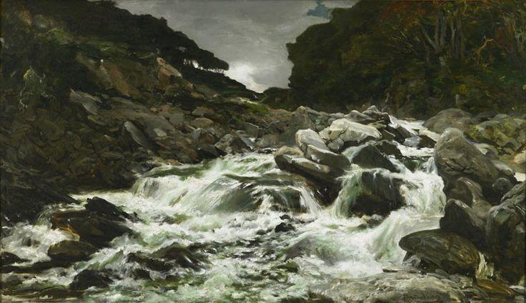 A waterfall in the Otira Gorge ; Petrus van der Velden; 1891; 2-1893 - Dunedin Public Art Gallery on NZMuseums