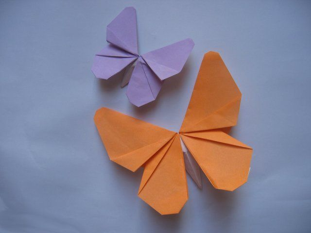 origami butterflies to hang on the fence and send one home with each kid