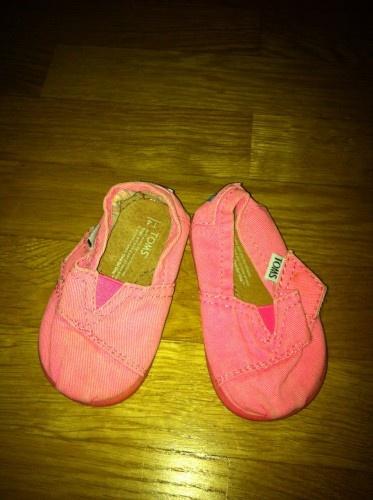 Rosa TOMs skor till flickor 50 sek