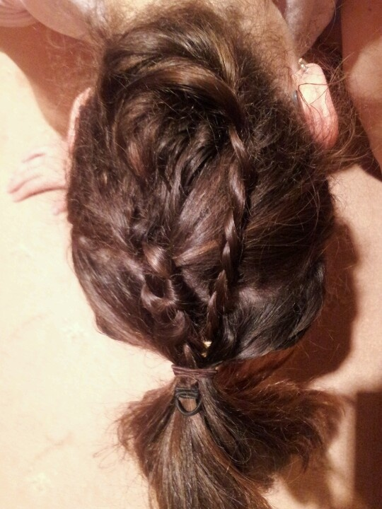 Plait at home did it my self so proud ;)