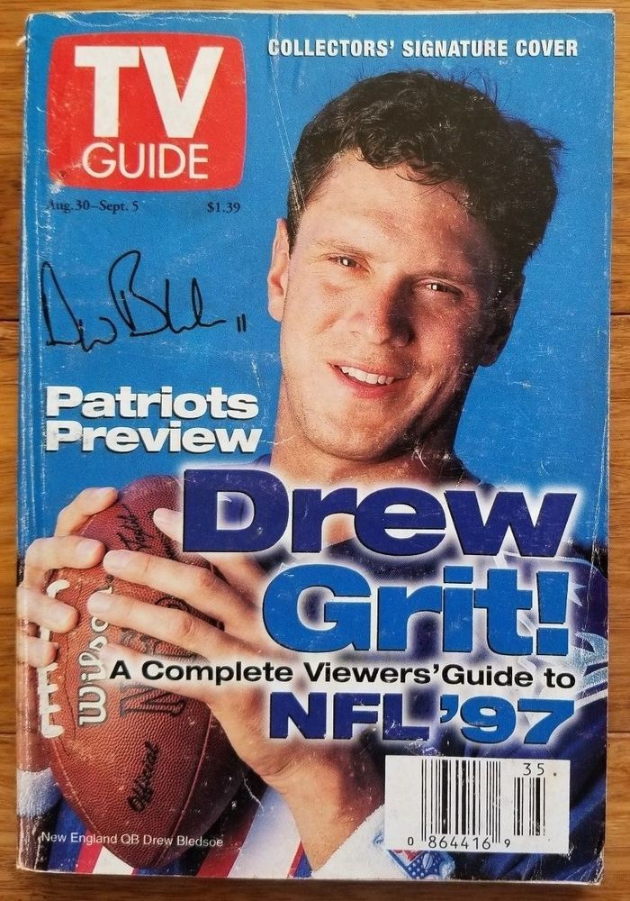 TV Guide 8/30/97 Drew Bledsoe, NFL Viewers' Guide, Nikki Cox, Chris