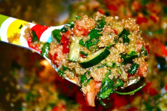 Yummmmmmm! Vegan Quinoa Tabbouleh .... cravable. This blog has tons of healthy recipes.