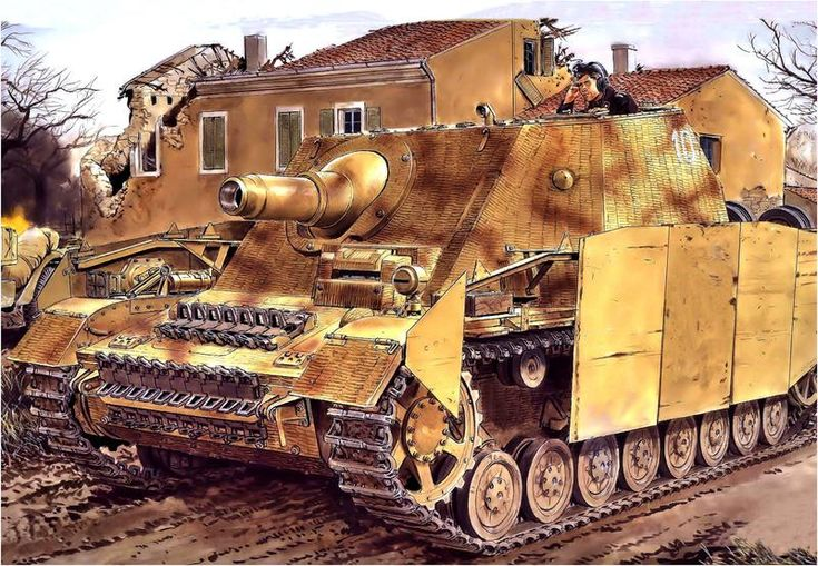 Sturmpanzer IV 'Brummbär' Early Production with Zimmerit paste and Schurzen, the stage seems to be Italian