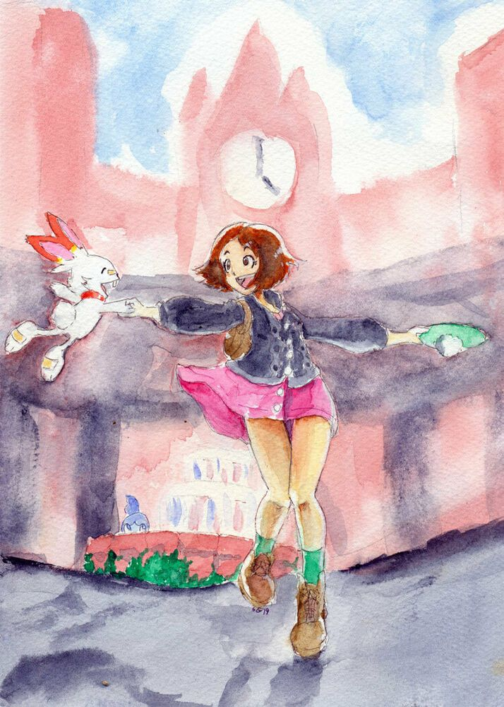 Pokemon Sword And Shield Inspired Fanart Aceo Atc Or 5x7 Print You