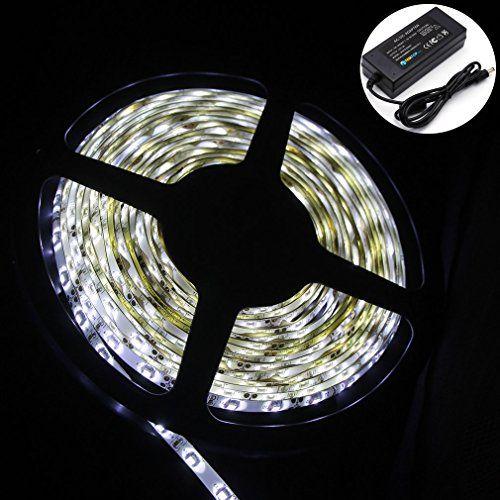 Sale Preis: Auralum® 5M SMD 3528 LED Strips Set Lichtleiste Leuchtband Schlauch 60 LEDs/m wasserdicht kaltweiß 6000-6500K inkl. Trafo. Gutscheine & Coole Geschenke für Frauen, Männer & Freunde. Kaufen auf http://coolegeschenkideen.de/auralum-5m-smd-3528-led-strips-set-lichtleiste-leuchtband-schlauch-60-ledsm-wasserdicht-kaltweiss-6000-6500k-inkl-trafo  #Geschenke #Weihnachtsgeschenke #Geschenkideen #Geburtstagsgeschenk #Amazon