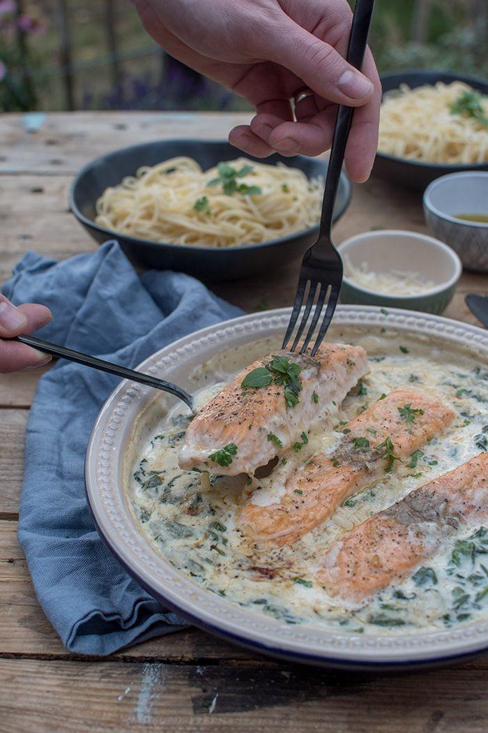 Ofenlachs mit Spinat: Dinnertime