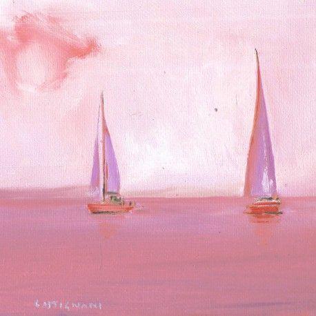 L'oeuvre unique et originale Mar rosa a été réalisée par l'artiste Sergi Castignani, qui des paysages très réalistes à la peinture à l'huile.