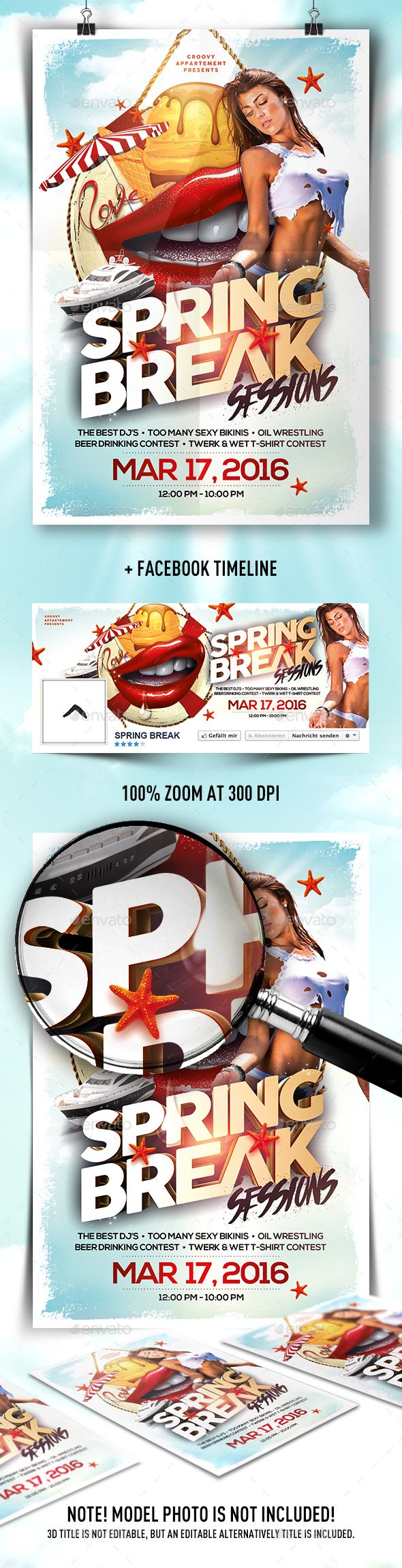 Poster design template psd - Spring Break Sessions Flyer Psd Templatesflyer