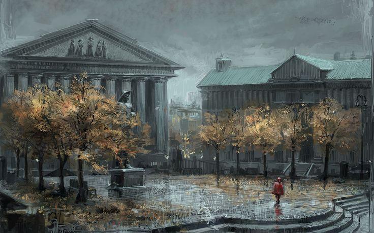 Autumn illustration #autumn #city #illustration