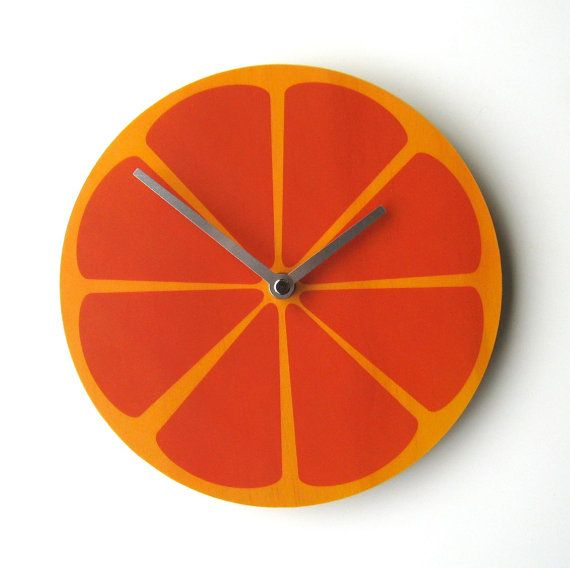Watermelon and Kiwi too. Objectify Fruity Wall Clocks by ObjectifyHomeware on Etsy New Zealand