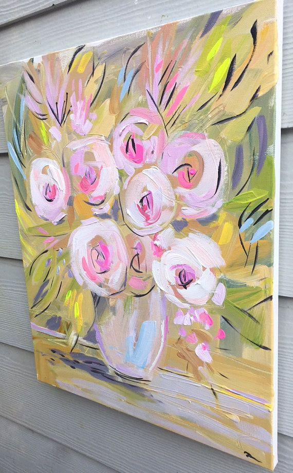 Impressionist Art Acrylic Painting Original Canvas Art
