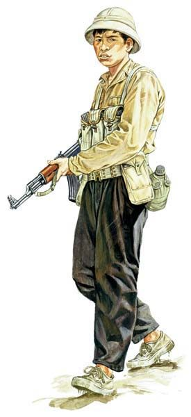 This was a vietcong soldier. They looked like average every day citizens and were difficult to pick out in a crowd which is why we had such a hard time in this war. We didn't know who we were fighting half the time.