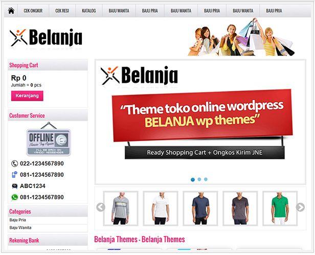 Toko Online  Belanja Theme koleksi terbaru untuk project toko online anda