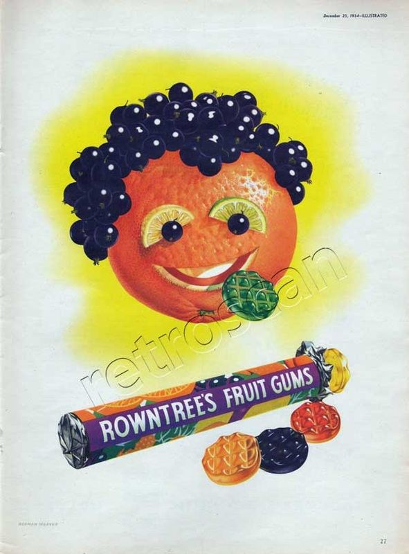 1954 Rowntrees Fruit Gums - Fruit Face