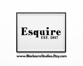 Esquire Abbreviated Esq New Lawyer Gift Law Office Attorney Gifts