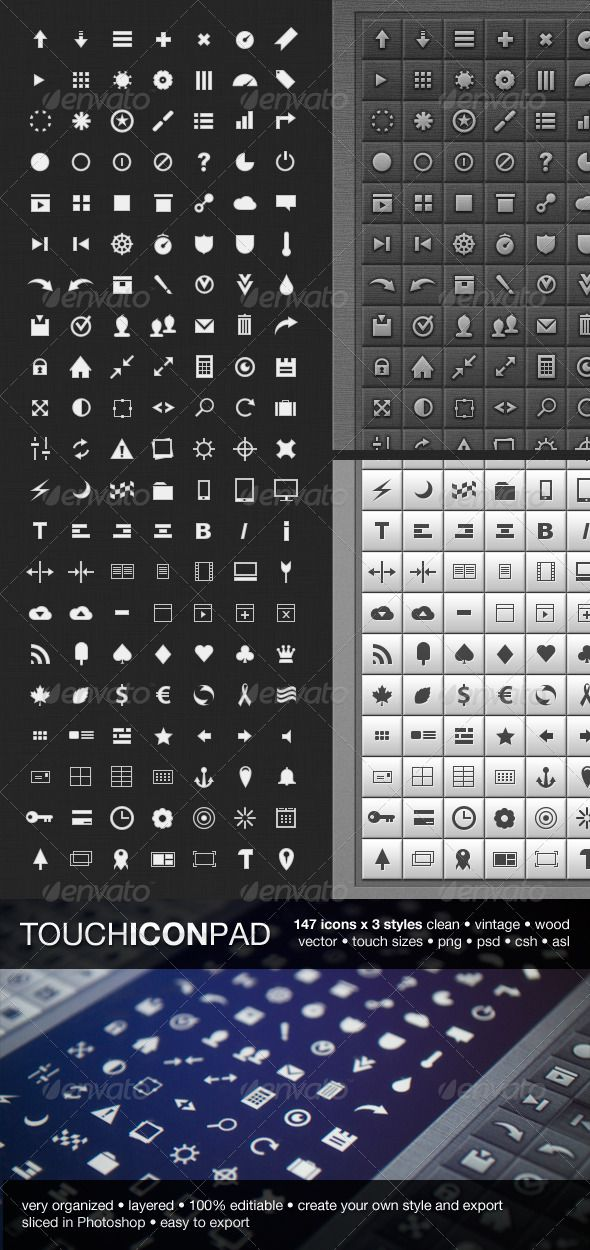 147 Touch Icon Pad icons #ui #icons #psd