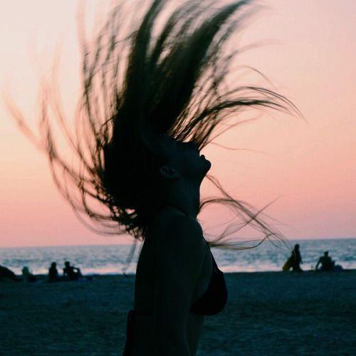 En la playa