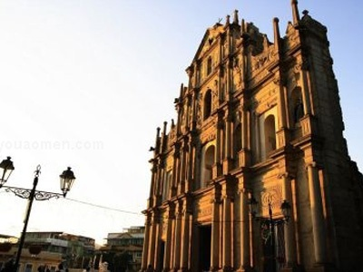 The ruins of St Pauls in Macau