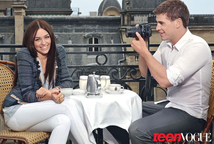 Miley cyrus, Liam hemsworth and Teen vogue on Pinterest