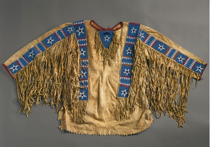 Lakota Sioux Man's Beaded and Fringed Hide Shirt.PNG