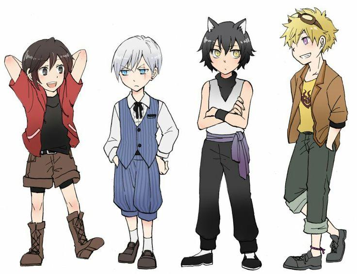 Young Team RWBY Genderswap