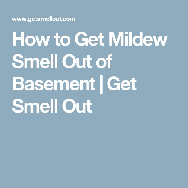 How To Get Mildew Smell Out Of Basement  Get Smell Out
