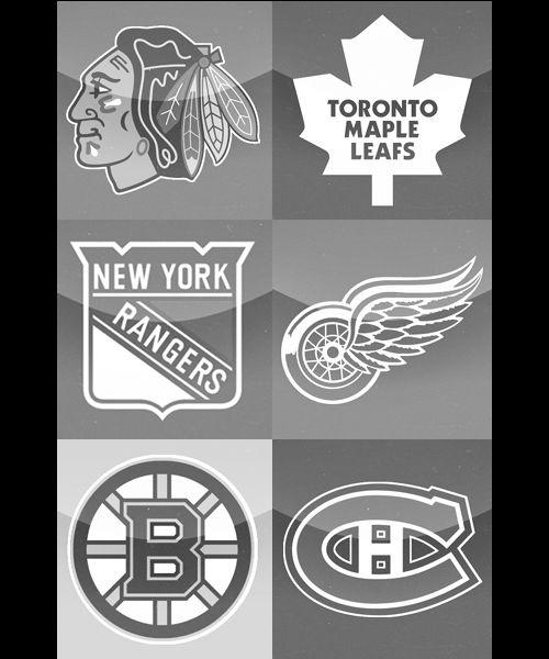 THE ORIGINAL SIX | Chicago Blackhawks (1926), Toronto Maple Leafs (1917), New York Rangers (1926), Detroit Red Wings (1926), Boston Bruins (1924), Montreal Canadiens (1917).