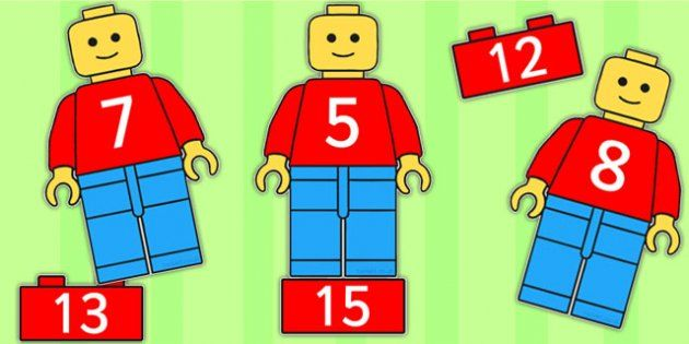 Lego Man Number Bonds Matching Activity to 20 - toys, numeracy