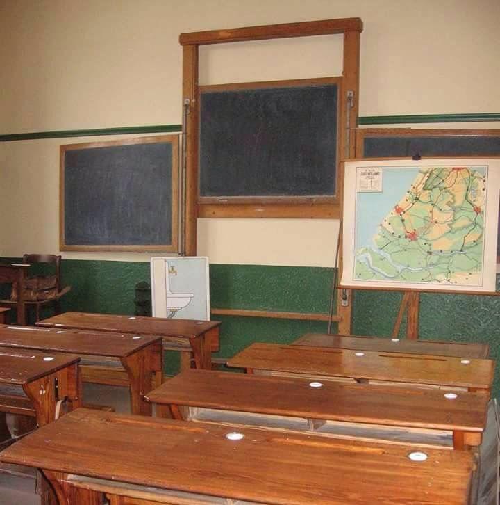 School klas van vroeger