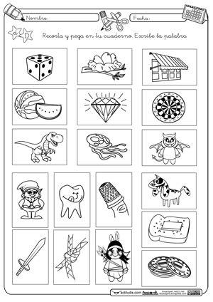 Resultado de imagem para ejercicios para diferenciar b y d para niños