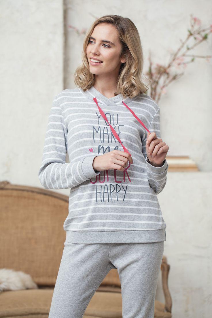 Pijama de rayas mensaje