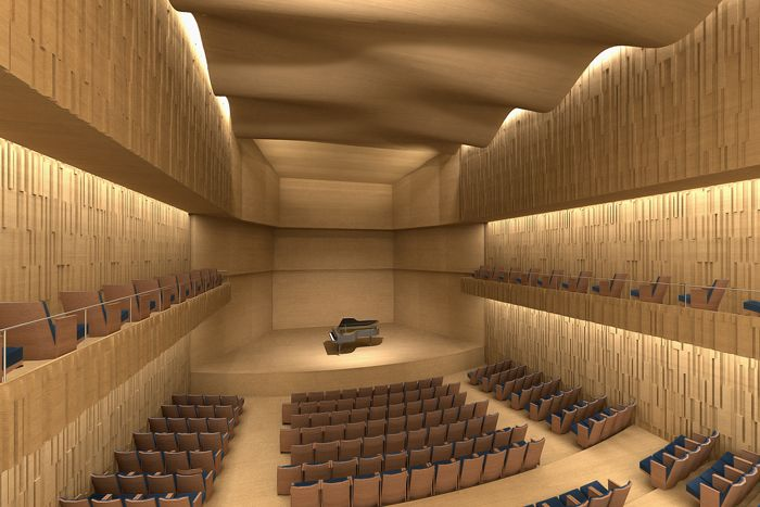 Arata isozaki and andrea maffei new concert hall padua for Designer interni famosi